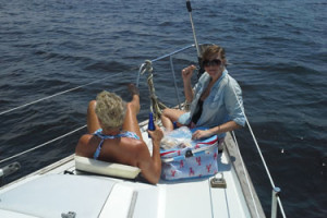 Enjoy a picnic while sailing
